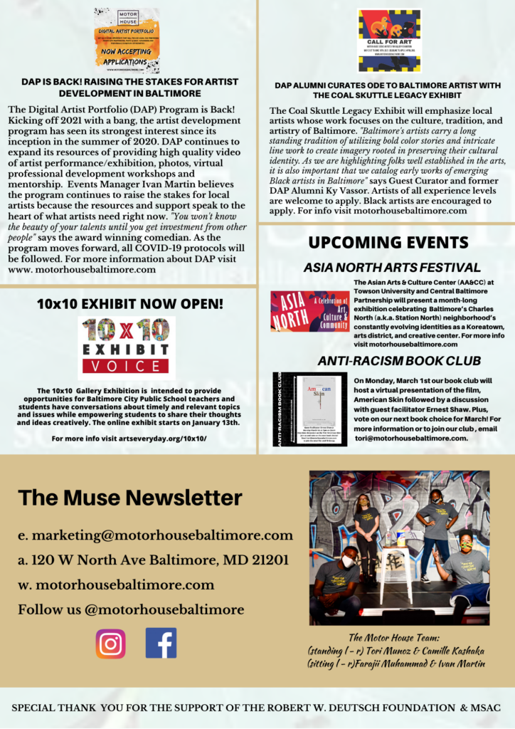 The Muse Newsletter 1