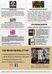 THE MUSE NEWSLETTER (MAY 2021 EDITION) 1