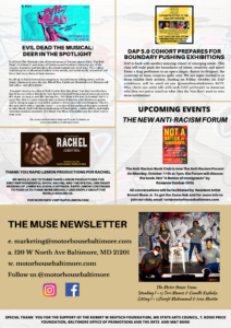 THE MUSE NEWSLETTER (SEPTEMBER 2021 EDITION) 1